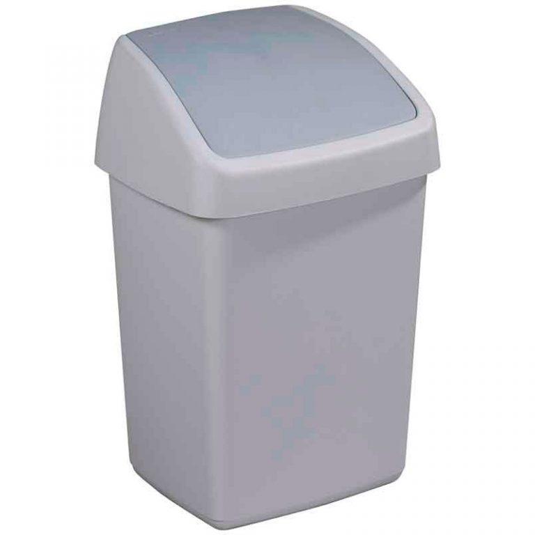 afvalbak grijs 10l